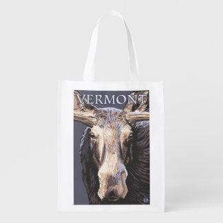 De VermontMoose cierre para arriba Bolsas Para La Compra