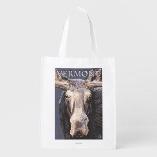 De VermontMoose cierre para arriba Bolsa Para La Compra