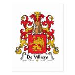 De Villiers Family Crest Post Card