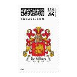 De Villiers Family Crest Postage Stamp