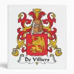 De Villiers Family Crest Vinyl Binder