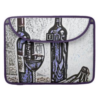 De vino todavía de la botella dibujo de lápiz del funda para macbook pro