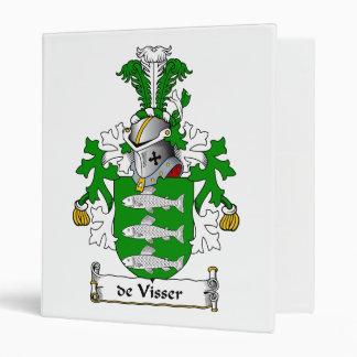 de Visser Family Crest Vinyl Binders