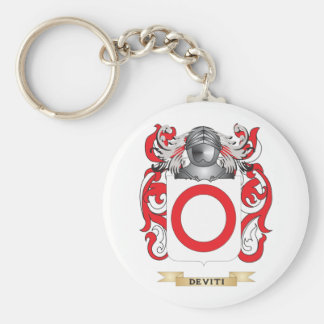De Viti Coat of Arms Basic Round Button Keychain