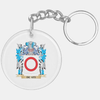 De-Viti Coat of Arms - Family Crest Double-Sided Round Acrylic Keychain