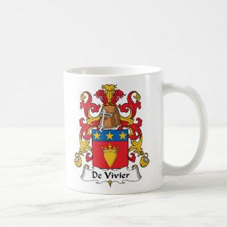 De Vivier Family Crest Classic White Coffee Mug