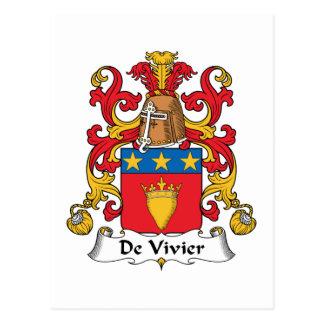 De Vivier Family Crest Postcard