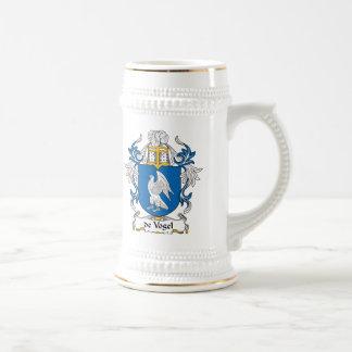 de Vogel Family Crest Beer Stein