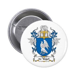 de Vogel Family Crest Pinback Button