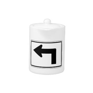 Dé vuelta a la izquierda, la señal de tráfico, los