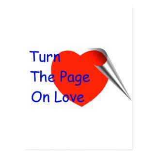 Dé vuelta a la página en amor postal