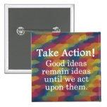 Dé vuelta a las buenas ideas en la acción positiva pins