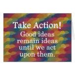 Dé vuelta a las buenas ideas en la acción positiva felicitacion