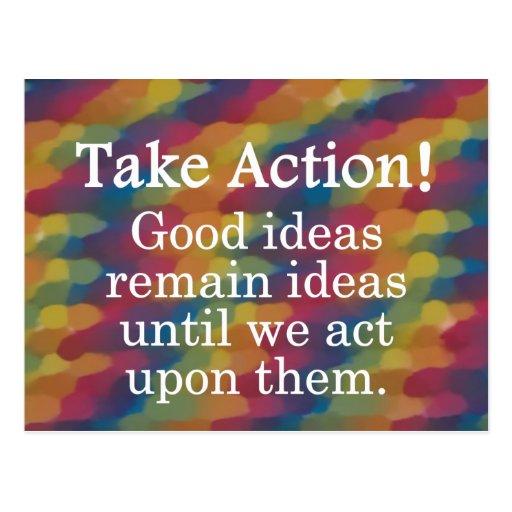 Dé vuelta a las buenas ideas en la acción positiva postal