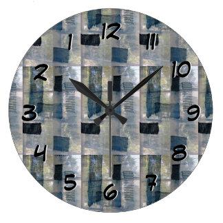Dé vuelta detrás al tiempo al revés registran - reloj redondo grande