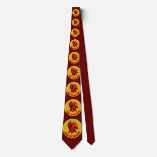 Dé vuelta encima del lazo del calor corbata personalizada