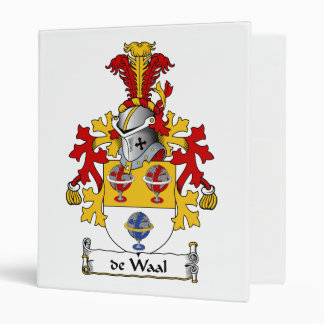 de Waal Family Crest 3 Ring Binders