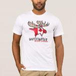 De Whitewater camiseta canadiense artística de los