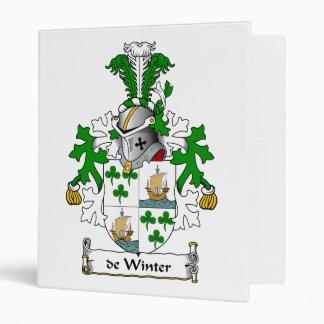 de Winter Family Crest Vinyl Binder