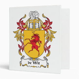 de Wit Family Crest Vinyl Binder