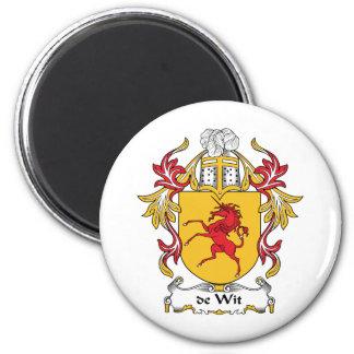 de Wit Family Crest 2 Inch Round Magnet