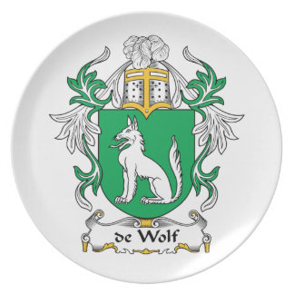 de Wolf Family Crest Melamine Plate
