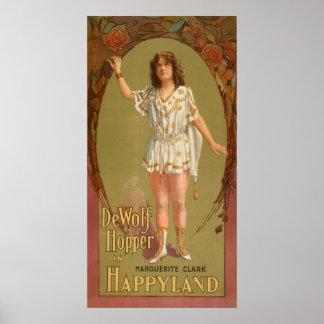 De Wolf Hopper in Happyland Theatre Poster
