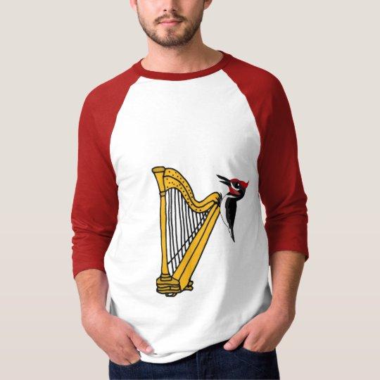 DE- Woodpecker on a Harp Shirt