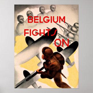 De WWII Bélgica de los seguir luchando patriotismo Impresiones
