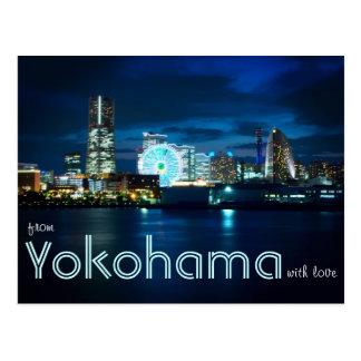 De Yokohama Minatomirai con el puerto Japón de la  Postal