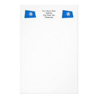 de Zavala Flag of Texas Stationery