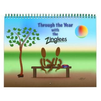 de Zinglees con el año Calendarios De Pared