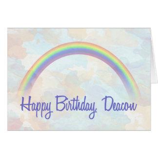Deacon Birthday, Rainbow of Blessings Card