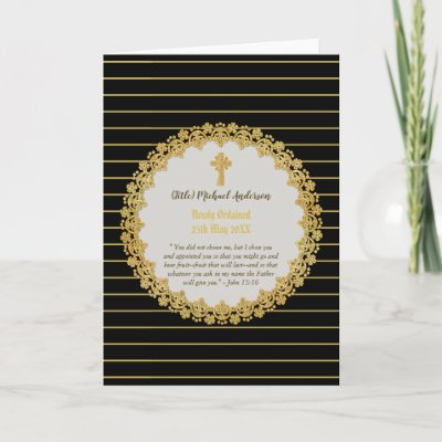 DEACON Newly Ordained Verse Gift Commemorative Card