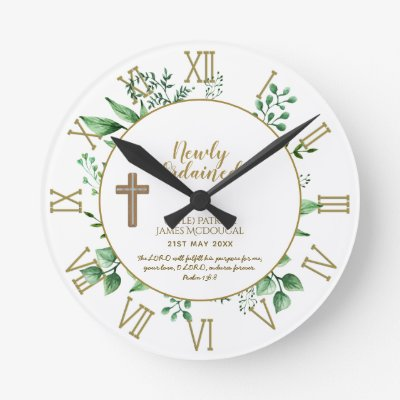 DEACON Newly Ordained Verse Gift Commemorative Round Clock