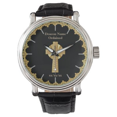 Deacon Ordained Ordination Gift Commemorative Wristwatch