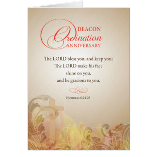 Deacon Ordination Anniversary Blessing Card