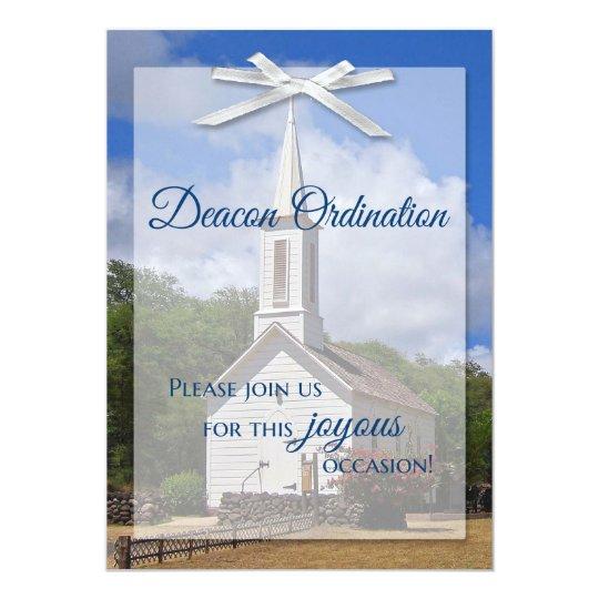 Deacon Ordination Invitation Zazzle Com