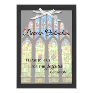 Deacon Ordination Invitation - Stain Glass