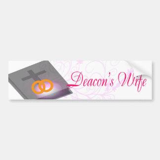 DEACON'S WIFE BS LT CAR BUMPER STICKER