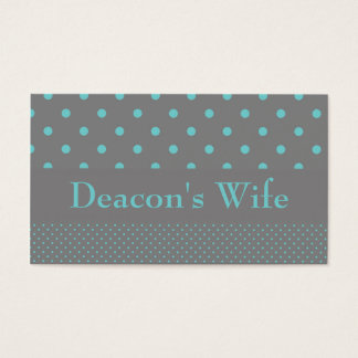 Deacon's Wife Business Cards