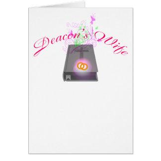 DEACON'S WIFE LT CARD