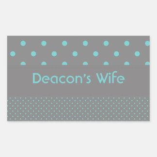 Deacon's Wife Rectangular Sticker
