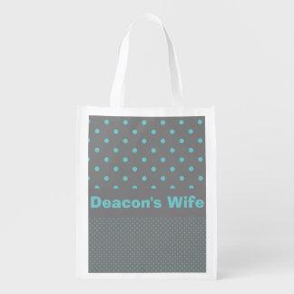 Deacon's Wife Reusable Grocery Bag