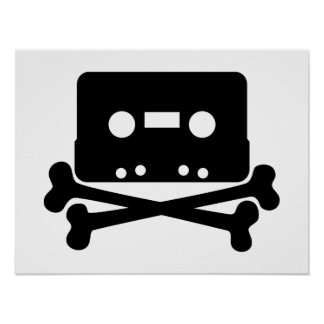 dead-35203 dead music icon cross skull cartoon cr print