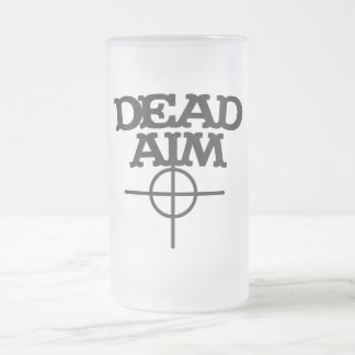 dead aim with sight target frosted glass beer mug