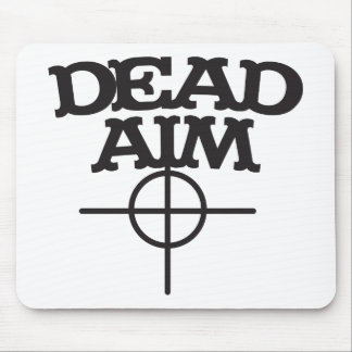 dead aim with sight target mouse pad