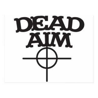 dead aim with sight target post card