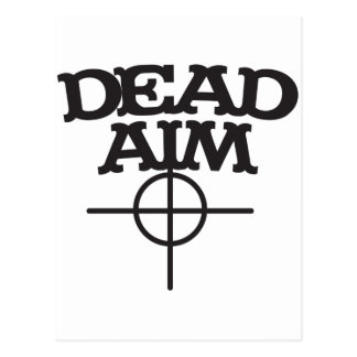 dead aim with sight target post cards