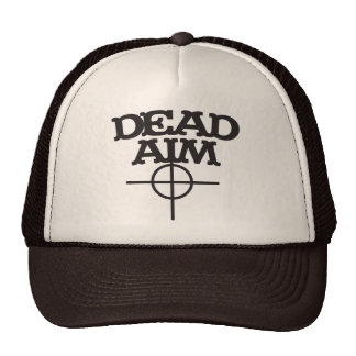 dead aim with sight target trucker hat